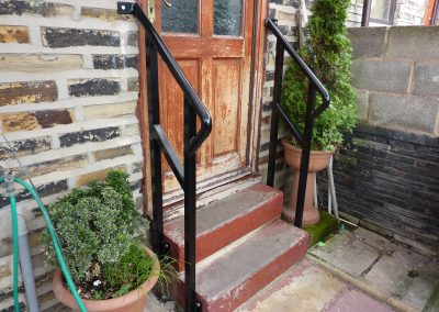 Doorstep handrail and gate