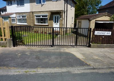 Bi-Folding Gate In Fairweather Green