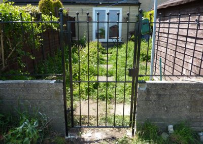Single Gate With Railings
