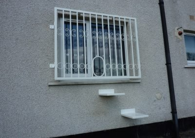 Window Grille With Cat Access