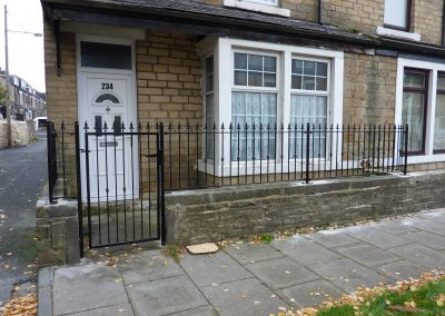 Single Gate & Railings With Gutter Support Arm
