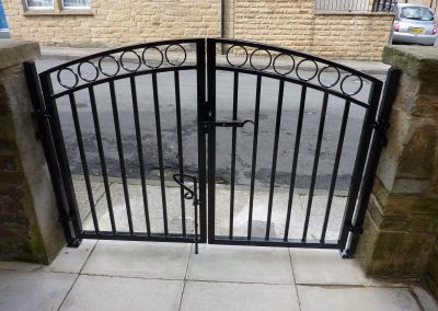 Double Gate And Railings