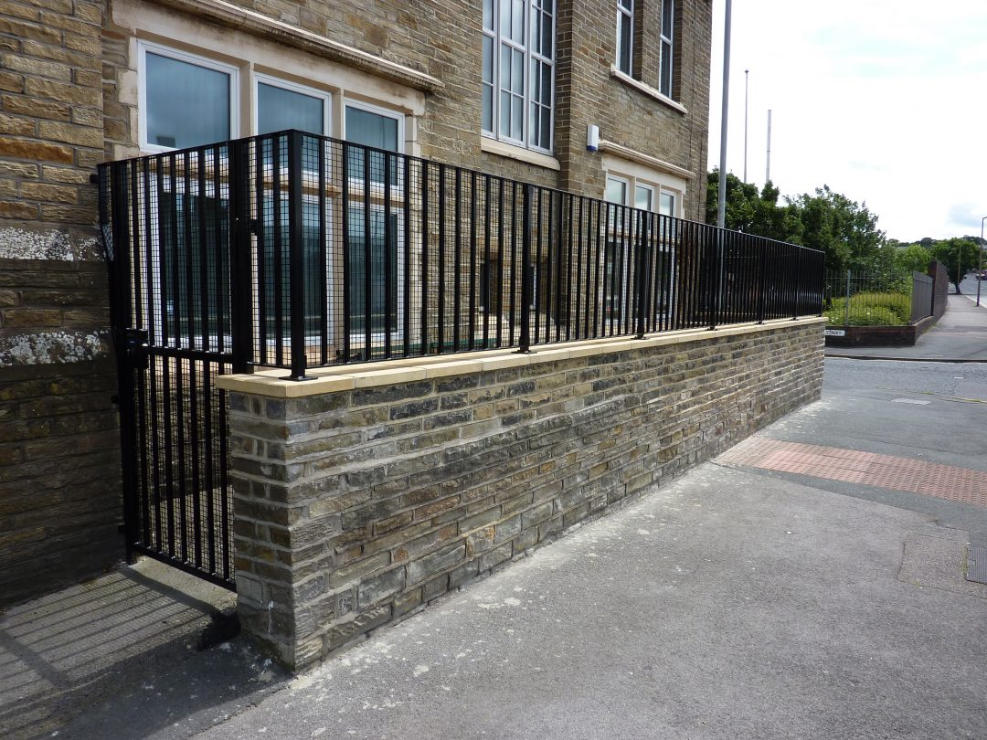 Church Wall Rail And Security Gate
