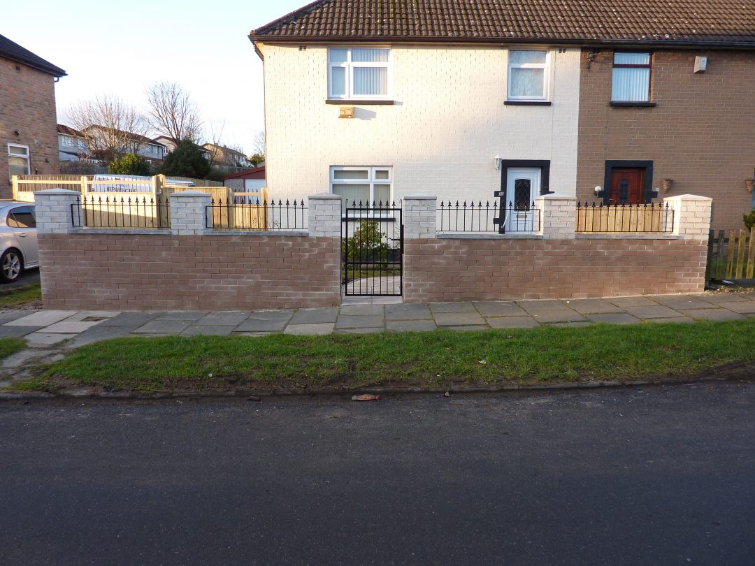 Single Gate & Railings In Fagley
