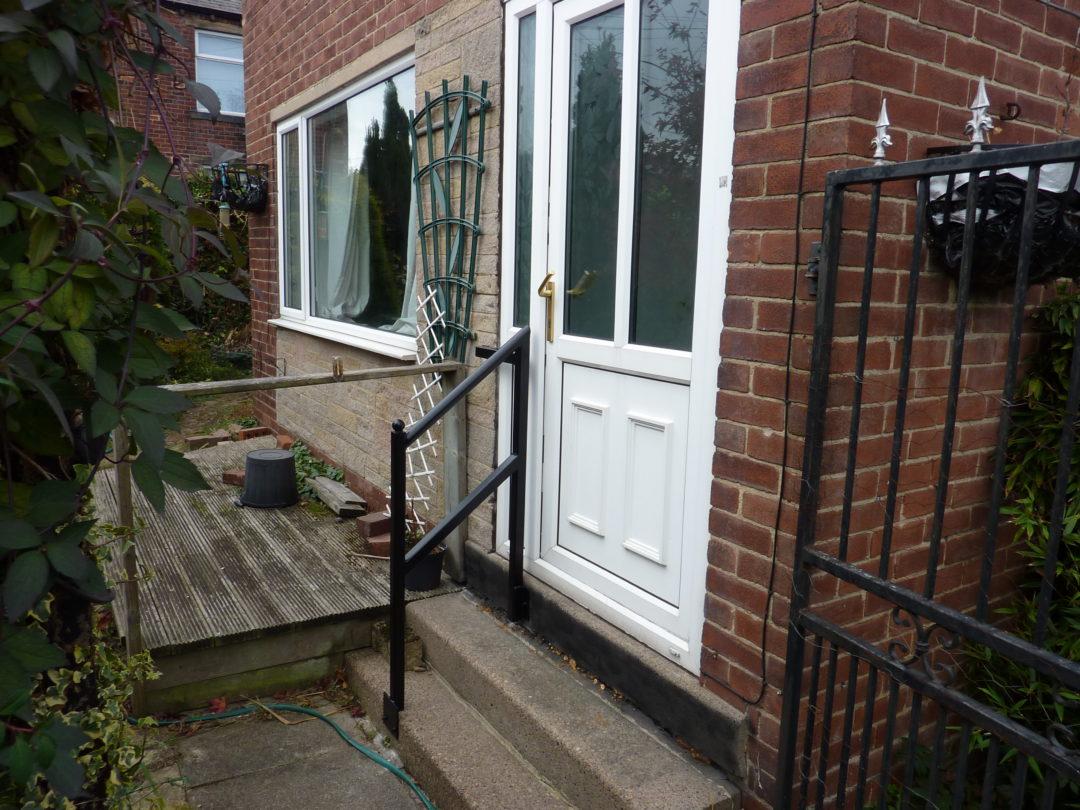 Door Step Handrail in Cleckheaton