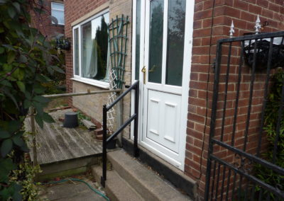 Door Step Handrail in Cleckheaton