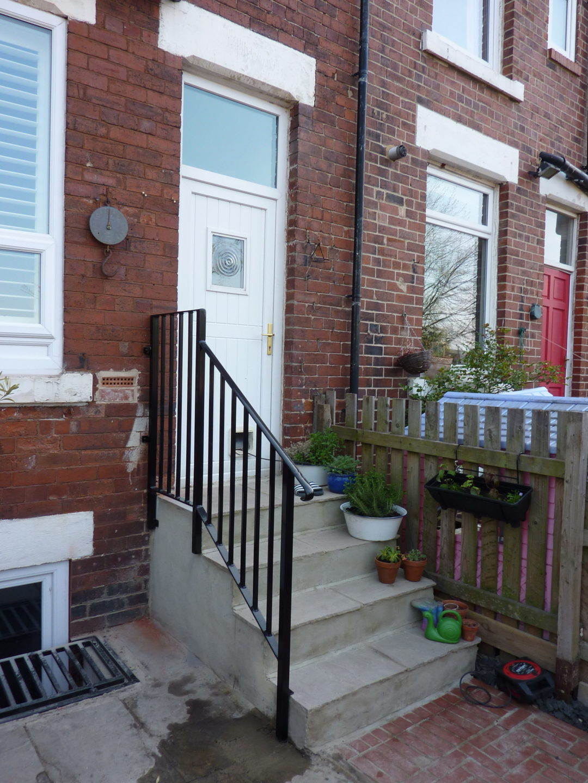 Door Step Handrail In Kirkstall